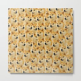 shibe doge fun and funny meme adorable Metal Print
