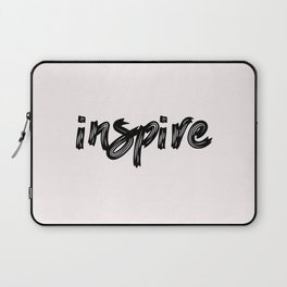 inspire - hand made caligraphy Laptop Sleeve
