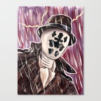 rorschach Canvas Prints featuring Rorschach by MSG Imaging