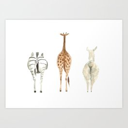 Cute animal butts Art Print
