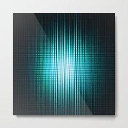 vertical and horisontal blue stripes Metal Print
