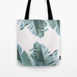 Blue Tropical Banana Leaf Plant Tote Bag