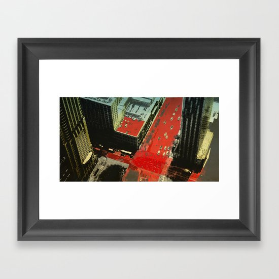 cross road Framed Art Print