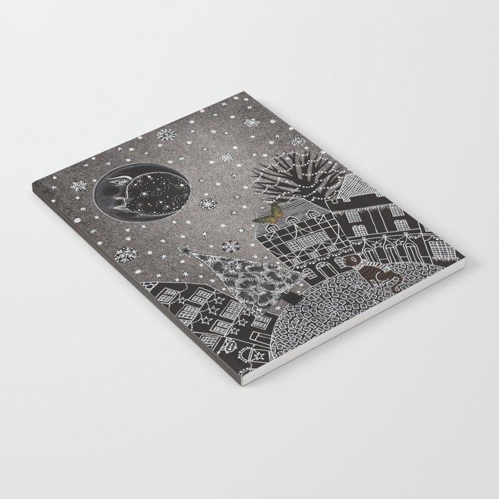 'Twas a Moonlit Winter Night Notebook