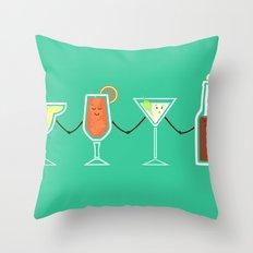 Cocktails! Throw Pillow