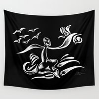 surf Wall Tapestries featuring SURF by Alien Style