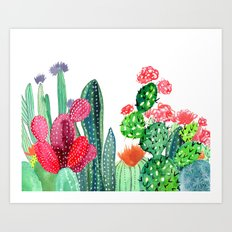 A Prickly Bunch 4 Art Print