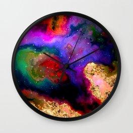 100 Starry Nebulas in Space 082 (Portrait) Wall Clock