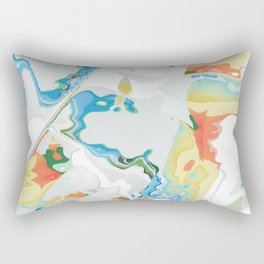 Eazy peazy painterly squeezy Rectangular Pillow