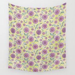 Floral on Lime Wall Tapestry