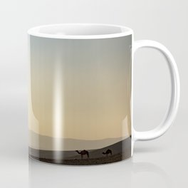 camels at sunset Coffee Mug
