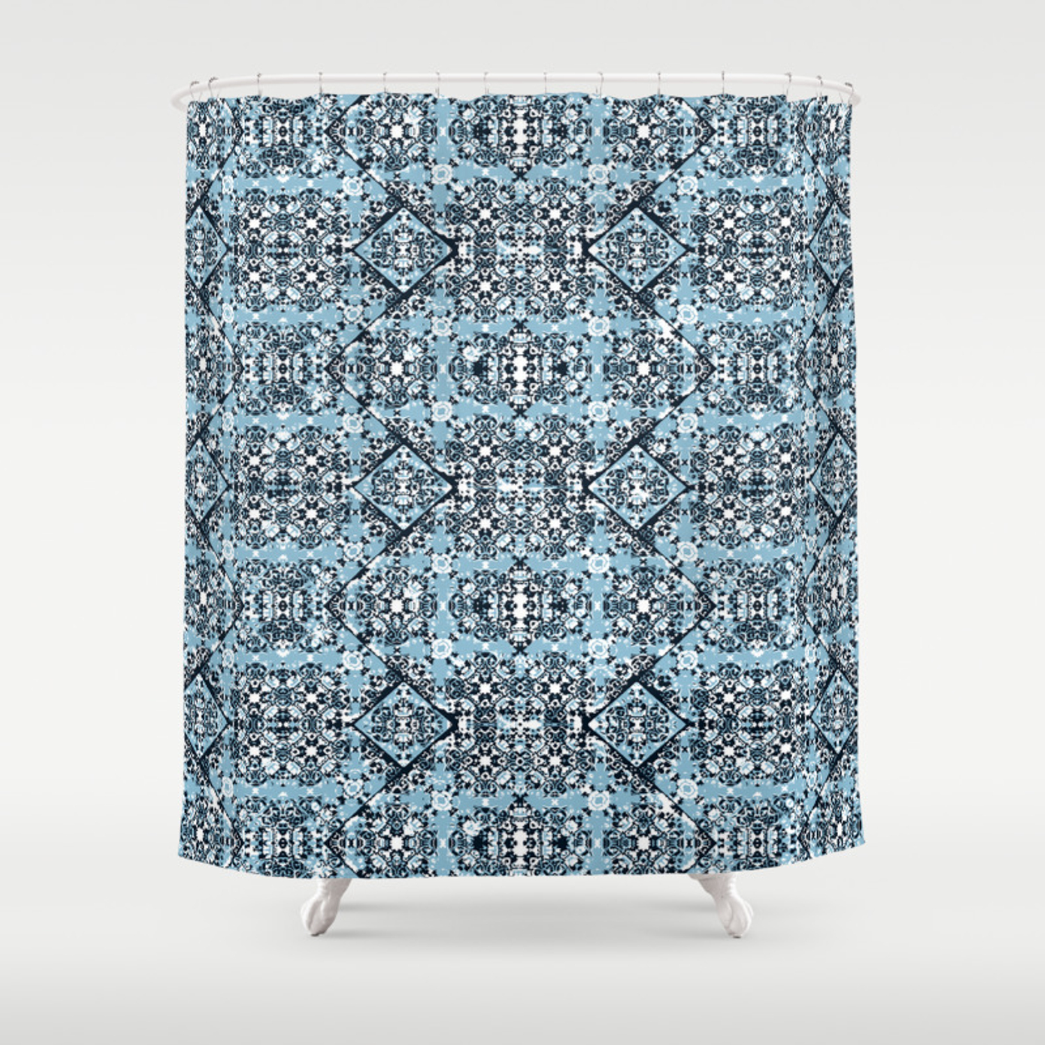 Luxury Oriental Ornate Pattern Shower Curtain