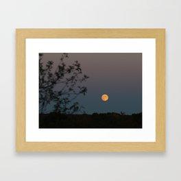 Full Yellow Moon Rise Framed Art Print