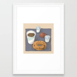 Chai Tea, Doughnuts and Water Framed Art Print