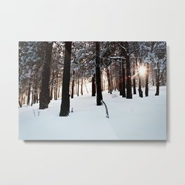 Winter Sunburst Metal Print