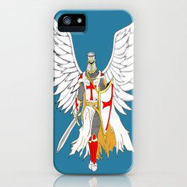 Knights Templar Angel  iPhone Case