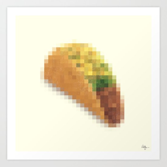 Censored Mexican Dish Art Print