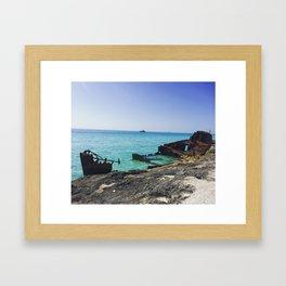 Rusty Shipwreck Framed Art Print
