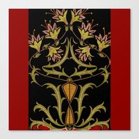 art nouveau Canvas Prints featuring art nouveau by Ariadne