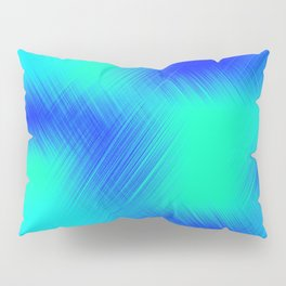 Blue and Green Patches Pillow Sham