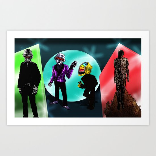 """Random Access Memories"" [Chroma Version] by the CoS Art Dept Art Print"