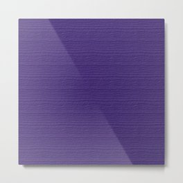 Ultra Violet Wood Grain Color Accent Metal Print