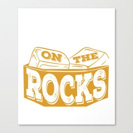 """""""Whiskey On The Rocks"""" tee design. Awesome gift to your whiskey lover family and friends!  Canvas Print"""