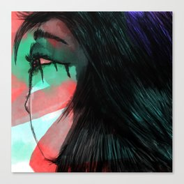 Girl with Tears Canvas Print