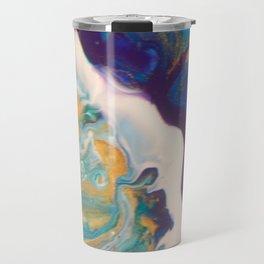 Fluid Nature - Dividing Line - Abstract Acrylic Art Travel Mug