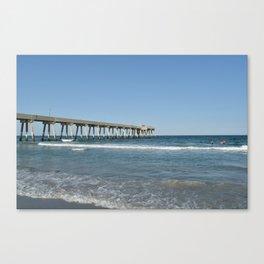 Boardwalk and Ocean / Wilmington Beach, NC Canvas Print