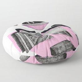 pink wild horse Floor Pillow