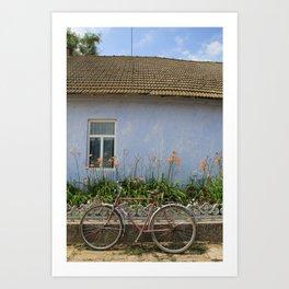 Bike Rest Art Print