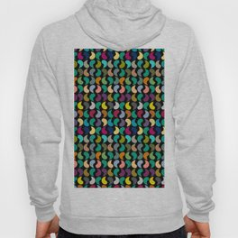 Seamless Colorful Geometric Shapes Pattern Hoody