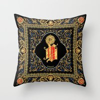 versace Throw Pillows featuring Versace Classic by Goldflakes