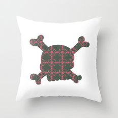 pattern with skull Throw Pillow
