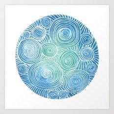 Blue Tint Abstract Art Print