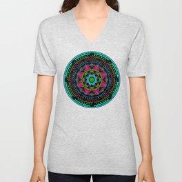 Mandala Energy in Neon Unisex V-Neck