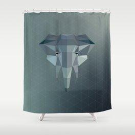Geometric Elephant Shower Curtain