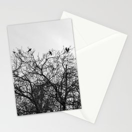 A murder of crows sitting in a tree Stationery Cards