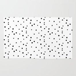 Dalmatian Polka Dots - White/Black Rug