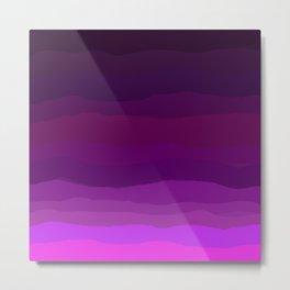 Purple Pink Plum Ombre Metal Print
