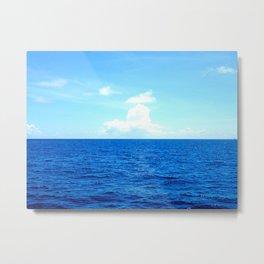Serene Blue Water Metal Print