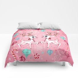Cute Christmas Reindeer Comforters