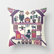 House Of Freaks Throw Pillow