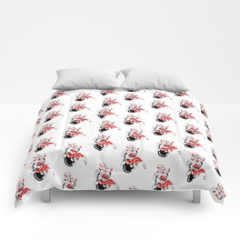 Pin up girl bomb rockabilly Mad Twins Comforters