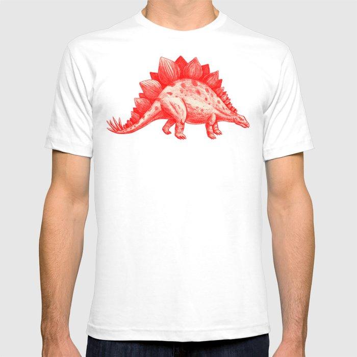 Red Stegosaurus  T-shirt