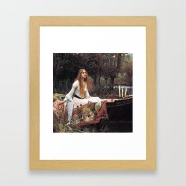The lady of shalott painting  Framed Art Print