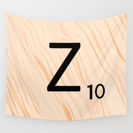 Scrabble Letter Z - Scrabble Art and Apparel Wall Tapestry