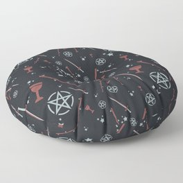 Tarot Card Suits Floor Pillow