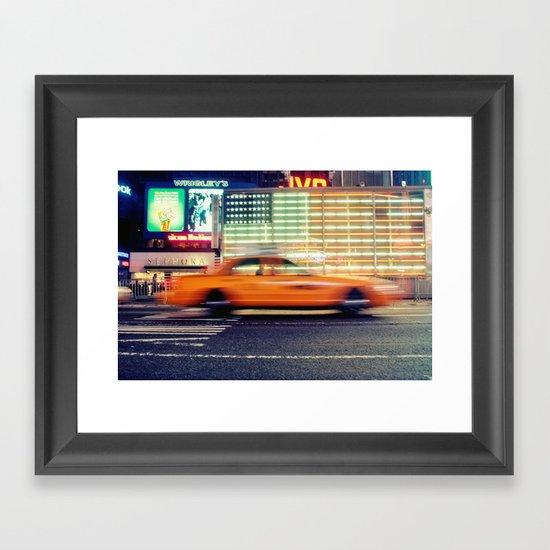 NYC Taxi Framed Art Print